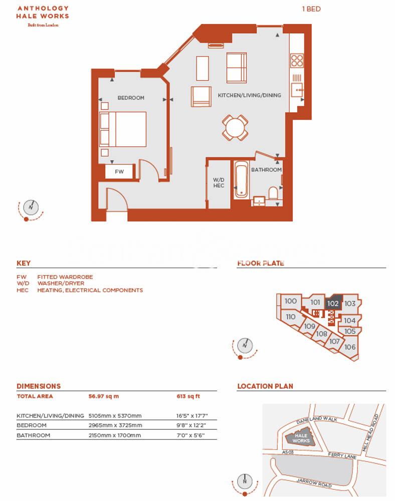 1 bedroom(s) flat to rent in Daneland Walk, Highgate, N17-Floorplan