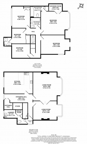 4 bedroom(s) flat to rent in Hampstead Lane, Highgate, N6-Floorplan
