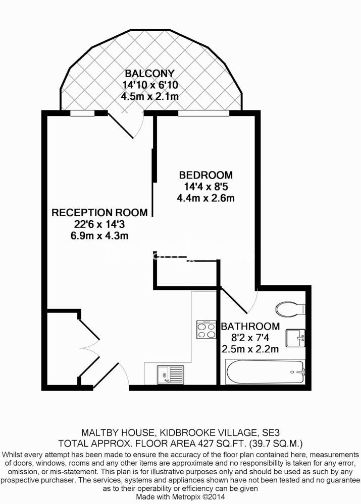 1 bedroom(s) flat to rent in Maltby House, Kidbrook Village, SE3-Floorplan
