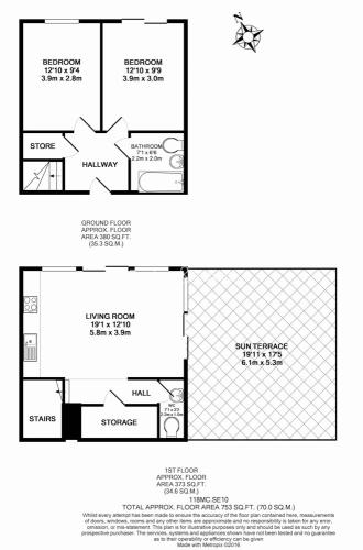 2 bedroom(s) flat to rent in John Harrison Way, North Greenwich, SE10-Floorplan
