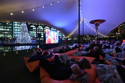 Christmas Floating Film Festival - St katharine Dock