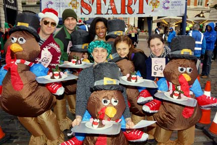 Great Christmas Pudding Race – Covent Garden