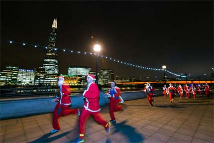 London santa dash -City of London