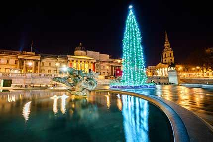 Lighting of Christmas Tree - Trafalgar Square